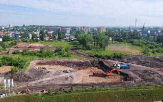 zdjęcie z budowy Pierwsza Dzielnica