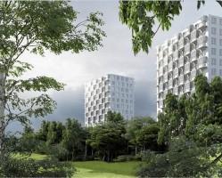 zdjęcie z budowy Lubelskie Dwie Wieże