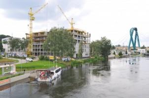 zdjęcie z budowy River Tower