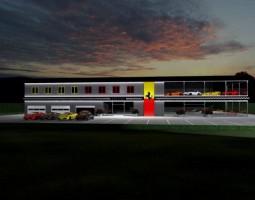 wizualizacje Salon Ferrari i multibrandowy salon samochodów luksusowych Auto SIM