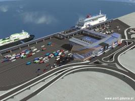 zdjęcie z budowy Terminal promowy w Porcie Wschodnim