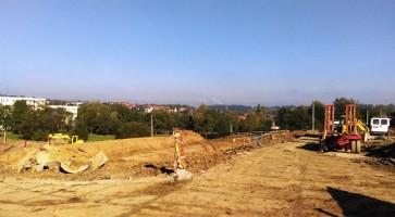 zdjęcie z budowy Królewskie Tarasy