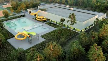 zdjęcie z budowy Kompleks sportowo-rekreacyjny Słoneczny Świdnik