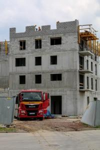 zdjęcie z budowy Osiedle Franciszkańskie