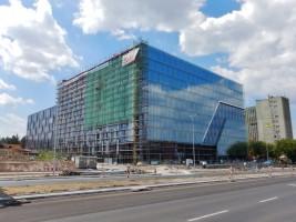 zdjęcie z budowy Tischnera Office