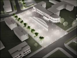 wizualizacje Plac przed hotelem Hutnik
