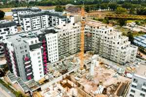 zdjęcie z budowy Osiedle nad Odrą