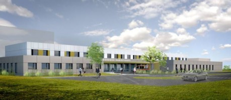 zdjęcie z budowy Ośrodek Radioterapii dla Szpitala Wojewódzkiego