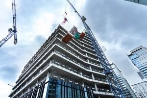 zdjęcie z budowy Biura przy Willi