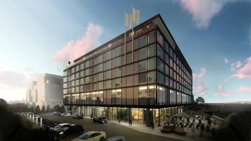 zdjęcie z budowy [Bielany Wrocławskie] Q Hotel Plus Wrocław Bielany