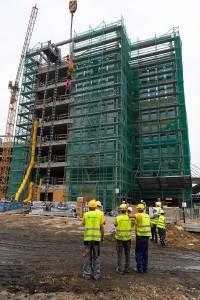 zdjęcie z budowy Face2Face Business Campus