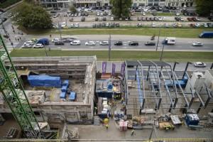 zdjęcie z przebudowy Fabryka Norblina