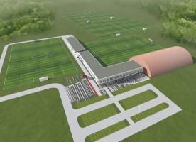 zdjęcie z budowy Piłkarskie centrum treningowo-badawcze Cracovia