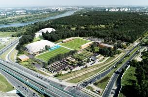 zdjęcie z przebudowy Kompleks sportowo-rekreacyjny Hutnik