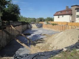 zdjęcie z budowy Dom nad Stawem Koziorożca