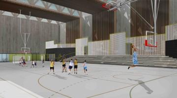 zdjęcie z budowy Hala sportowa przy Szkole Podstawowej nr 151