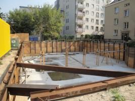 zdjęcie z budowy Willa Szembeka