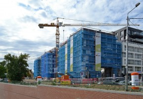 zdjęcie z budowy Bulwary Książęce