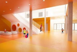 zdjęcie z budowy Kompleks szkolno-sportowy