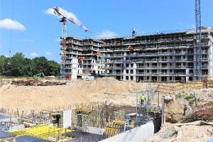 zdjęcie z budowy Marina Mokotów II